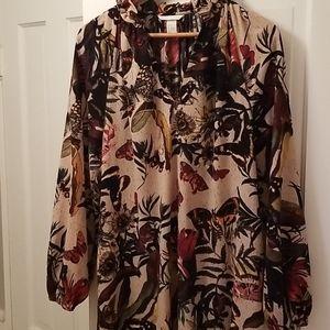 H&M midi blouson dress sz 10